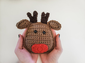 Reindeer Cuddle Buddy - Free Crochet Pattern