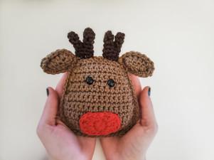 Reindeer Cuddle Buddy - Free Crochet Pattern
