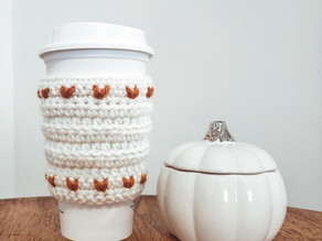 Rustic Heart Coffee Cozy - Free Crochet Pattern