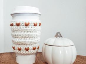 Quick Crochet: Rustic Fall Coffee Sleeve (Crochet Tutorial)