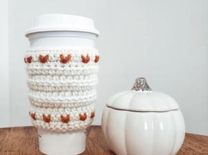 Rustic Heart Coffee Cozy - Free Crochet Pattern