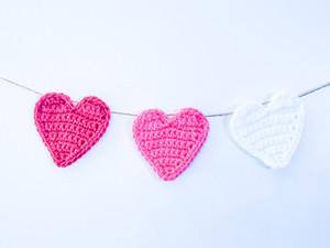 Crochet Heart Garland - Free Pattern