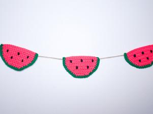 Watermelon Garland - Free Crochet Pattern