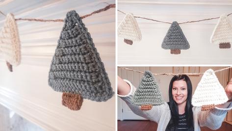 Crochet Christmas Tree Garland