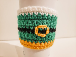 Elf Coffee Cozy - Free Crochet Pattern