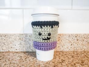 Crochet Frankenstein Coffee Sleeve | Halloween Crochet