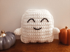 Ghost Cuddle Buddy - Free Crochet Pattern