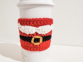 Santa Mustache Cozy - Free Crochet Pattern