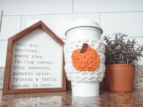 Pumpkin Coffee Cozy - Free Crochet Pattern
