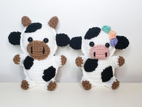 Cow Cuddle Buddy - Free Crochet Pattern