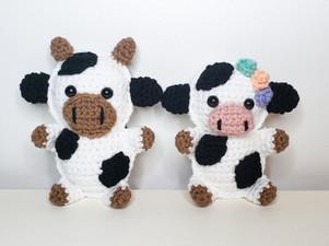 Cow Cuddle Buddy - Free Crochet Pattern
