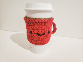 Crochet: Hot Cocoa Mug Coffee Sleeve (Holiday Coffee Cozy)
