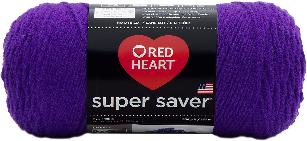 Red Heart Super Saver Yarn in the color Amethyst