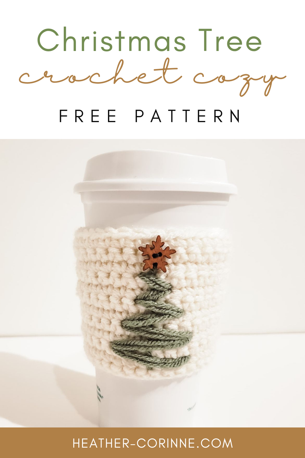Pin this Crochet Christmas Tree cozy free pattern to your pinterest board!