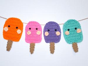 Popsicle Garland - Free Crochet Pattern
