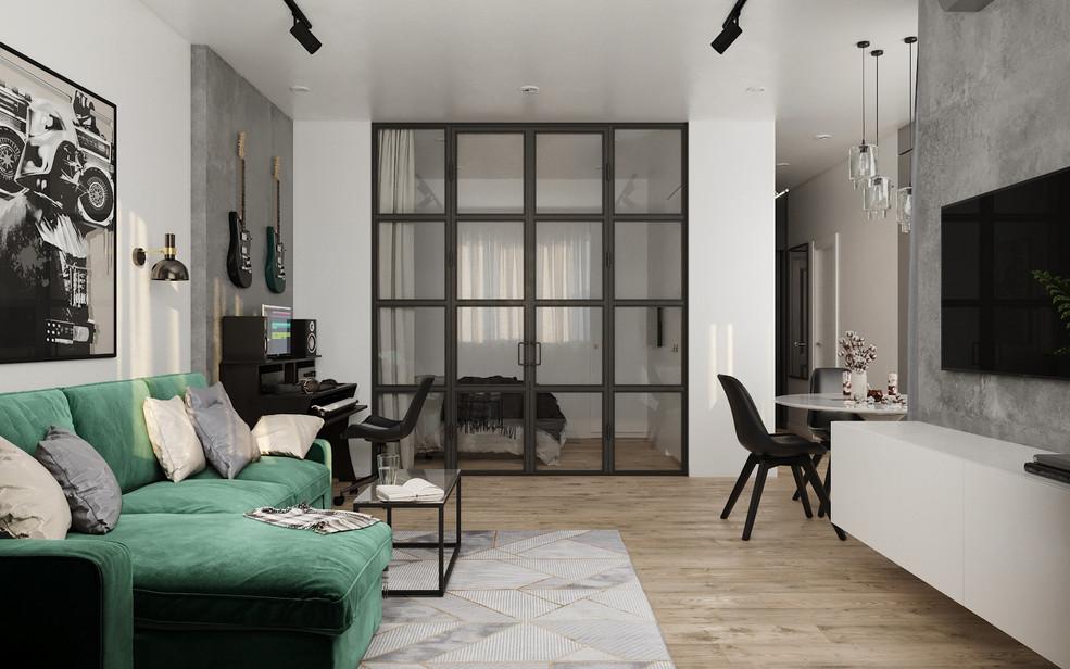 Квартира-студия 46 кв.м.