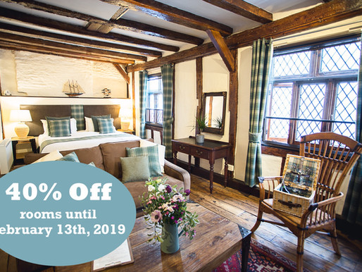 40% off rooms until February 13th