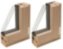 Sezioni legno e alluminio