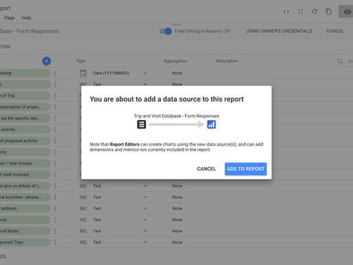 Switching from Awesome Table to Google Data Studio