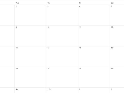 Labelling Teaching Weeks in Google Calendar