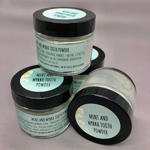 Mint and Myrrh Tooth Powder