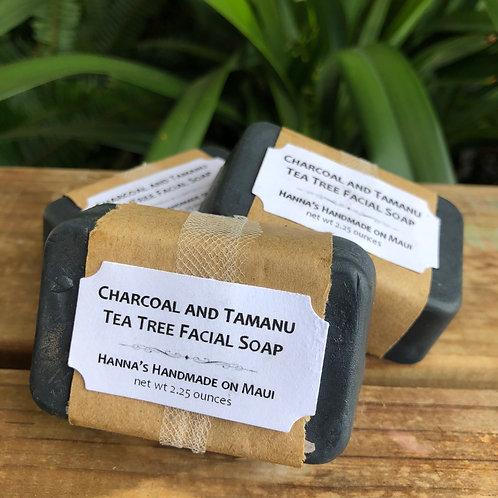 Charcoal and Tamanu Tea Tree Facial Soap