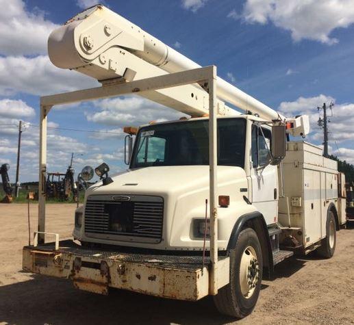 '00 FL FL80 Single Bucket Truck