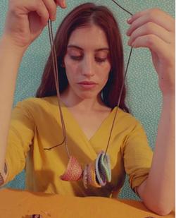 Cesta textile necklace