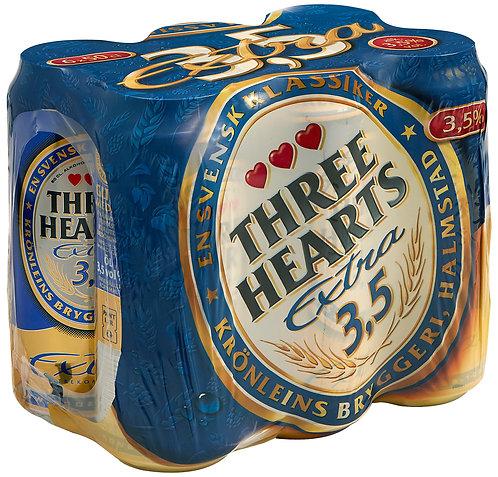 Three Hearts Extra 3,5% 6-pack