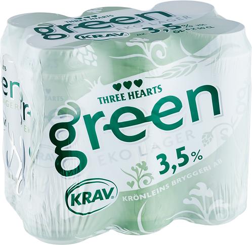 Three Hearts Green KRAV 3,5% 6-pack Eko