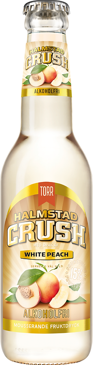 Halmstad Crush White Peach Alkoholfri 33cl