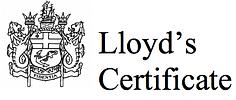 Lloyd's of London Pet Care Insurance Certificate.