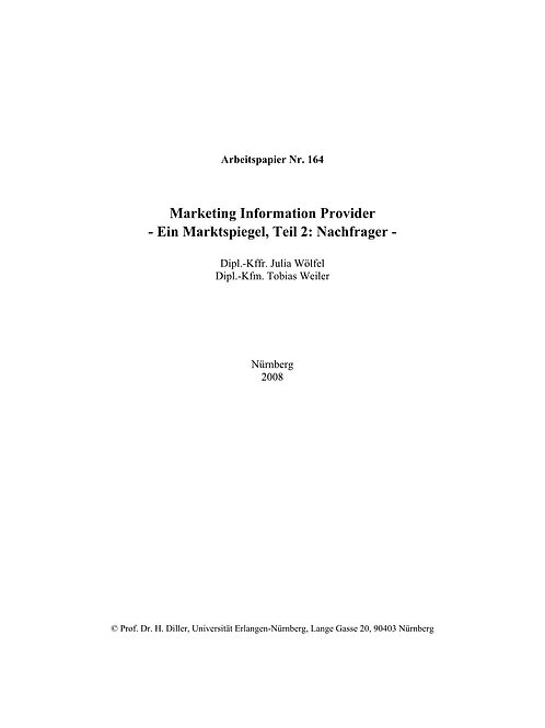 Marketing Information Provider