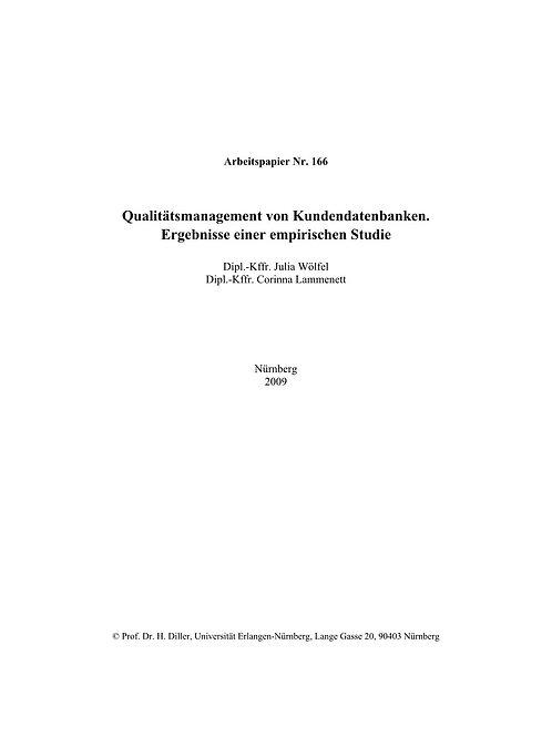 Qualitätsmanagement von Kundendatenbanken