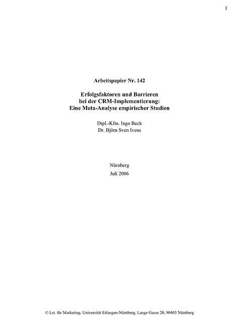 Erfolgsfaktoren und Barrieren bei der CRM-Implementierung