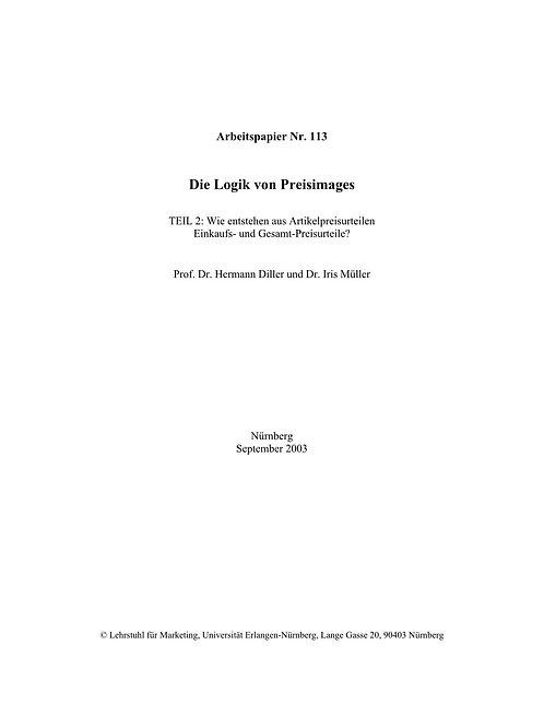 Die Logik von Preisimages, Teil 2