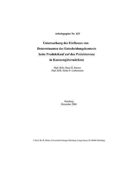 Untersuchung des Einflusses von Determinanten des Entscheidungskontexts beim Pro