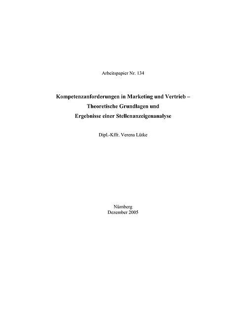 Kompetenzanforderungen in Marketing und Vertrieb