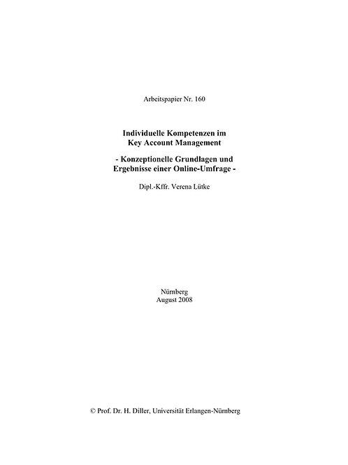 Individuelle Kompetenzen im Key Account Management
