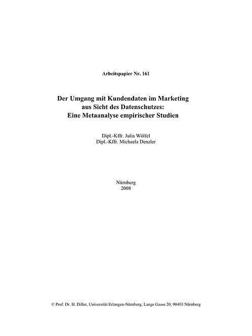 Der Umgang mit Kundendaten im Marketing aus Sicht des Datenschutzes