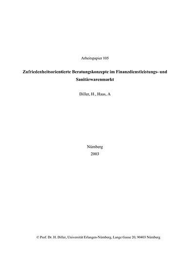 Zufriedenheitsorientierte Beratungskonzepte im Finanzdienstleistungs- und Sanitä