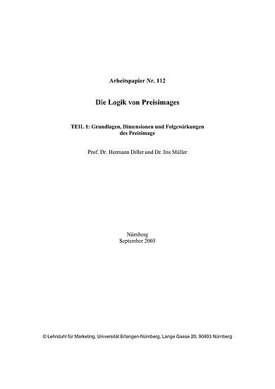Die Logik von Preisimages, Teil 1
