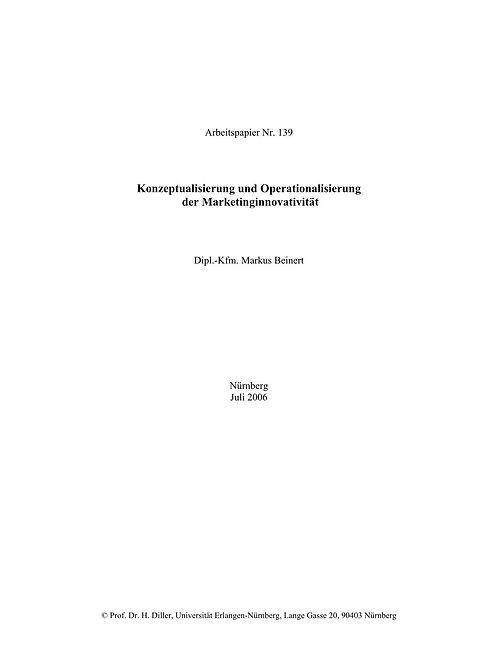 Konzeptualisierung und Operationalisierung der Marketinginnovativität