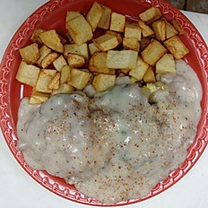 1/2 Biscuit and Gravy