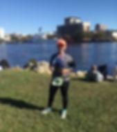 Coach Stacie half marathon finish