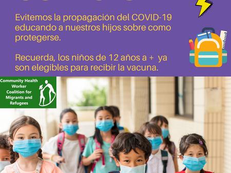 Vuelta al colegio: Evitemos la propagación del COVID-19
