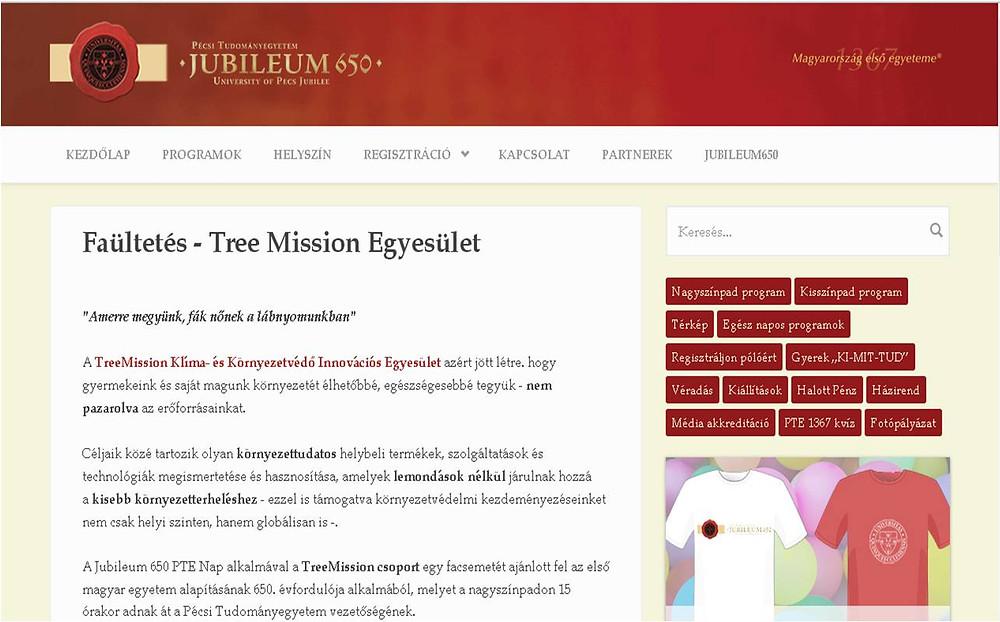Faültetés - TreeMission Egyesület