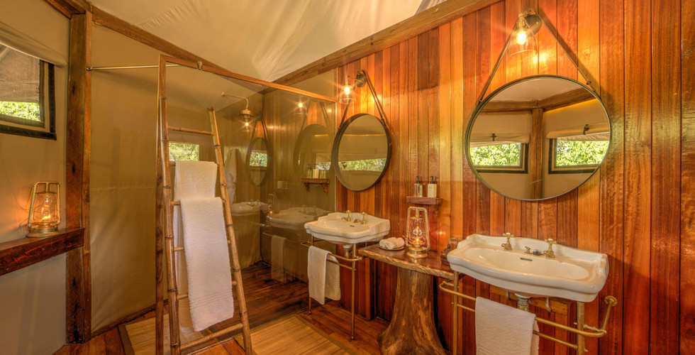 Ker & Downey Okavango Delta Kanana Camp - Tent Suite Bathroom Interior