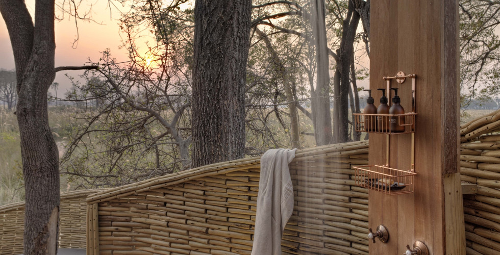 Sandibe Okavango Delta Lodge - Guest Suite Outdoor Shower