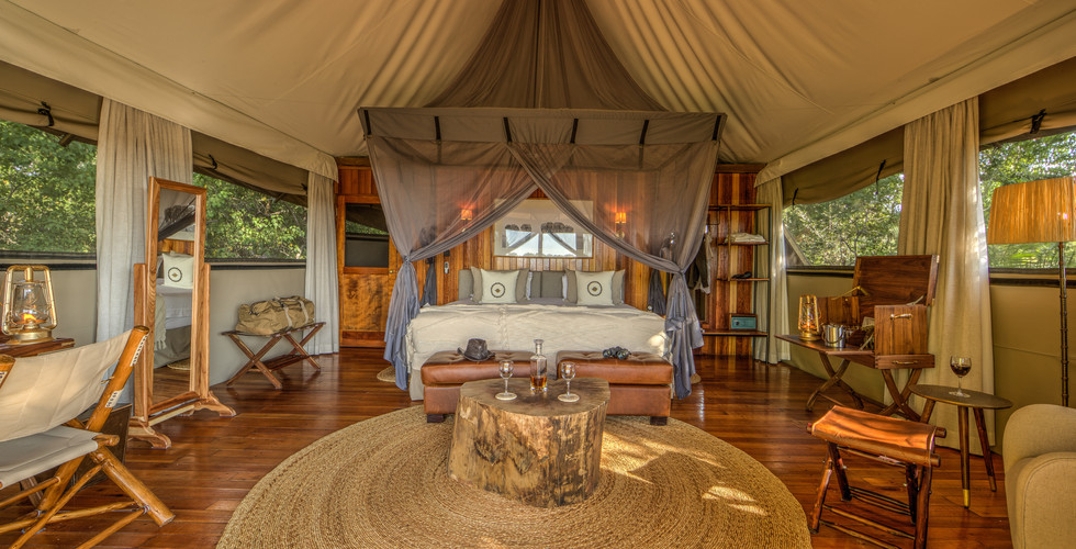 Ker & Downey Okavango Delta Kanana Camp - Tent Suite Interior